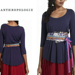 Anthropologie A Common Thread Stretchy Tee w/Belt